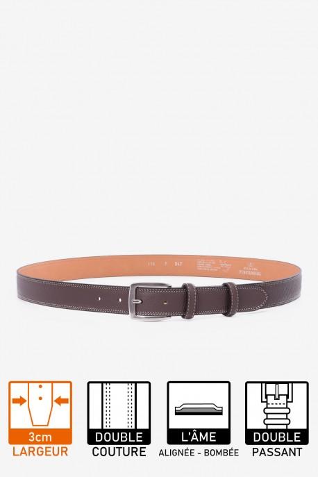 F047/EF Leather belt - Taupe