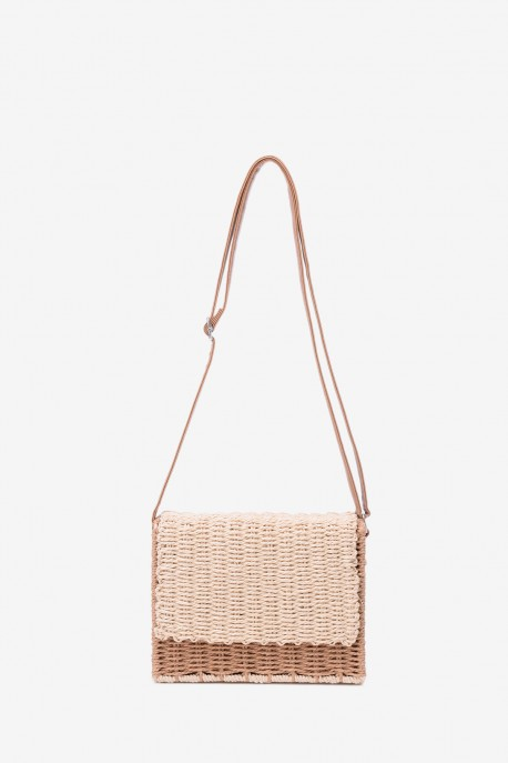 CL17119 Synthetic straw crossbody bag