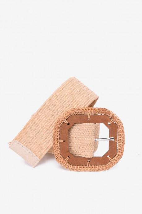 SE-8023 Braided elastic belt straw style
