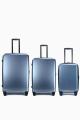 ELITE PUR MATE Set of 3 Polycabonate suitcase E2129 : Color:Bleu-Gris