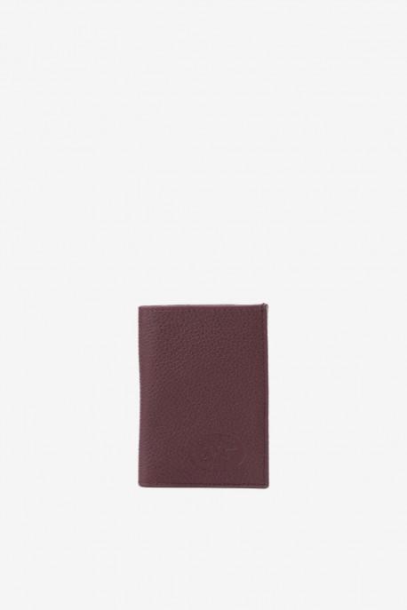 SF6003 Dark Brown Leather card holder - La Sellerie Française