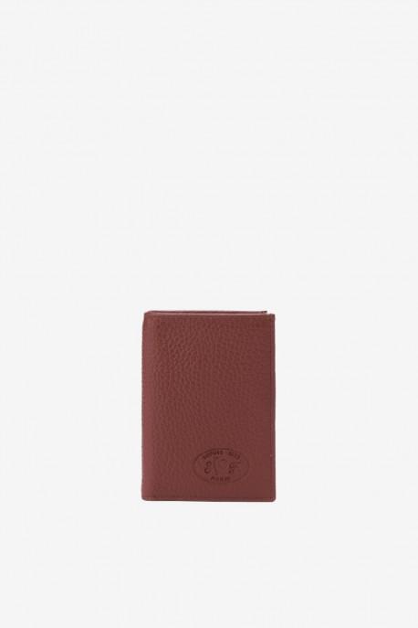 SF6003 Brown Leather card holder - La Sellerie Française