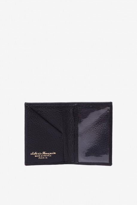 SF6003 Black Leather card holder - La Sellerie Française