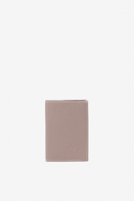 SF6003 Light tan Leather card holder - La Sellerie Française