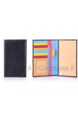 Multicolor Leather cheque book case April 28631