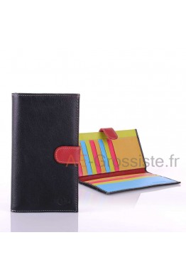 April multicolor Leather organizer wallet 28602