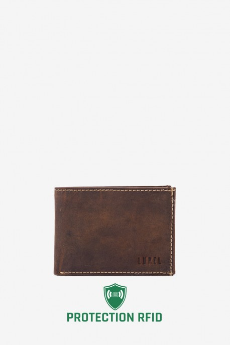 LUPEL® - L433AV leather wallet - With protection RFID