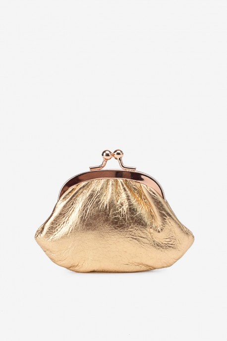 SF450 Leather purse shining gold