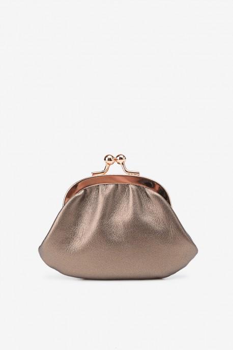 SF450 Leather purse Matt bronze