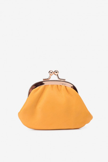 SF450 Leather purse Yellow