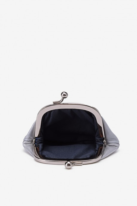 SF450 Leather purse pearly silver