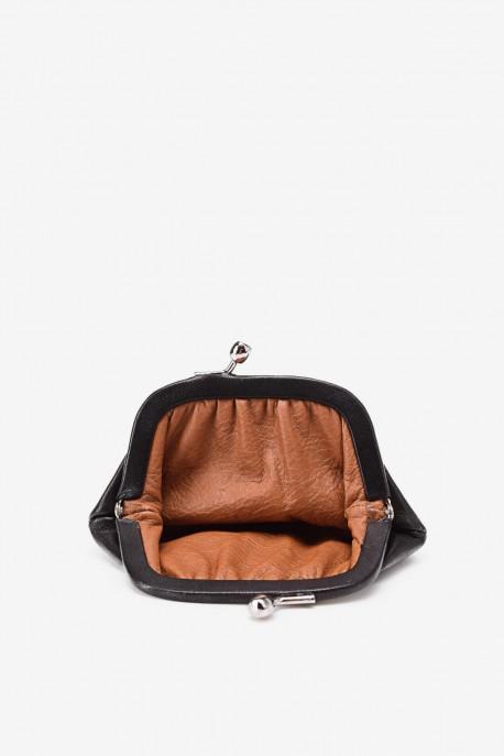 SF450 Leather purse Black