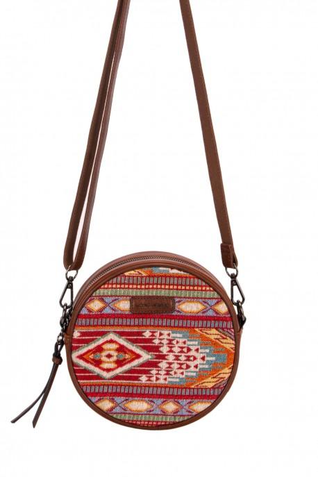 David Jones 6651-2 textile shoulder crossbody bag