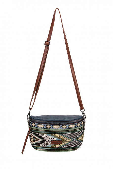 David Jones 6651-1 textile shoulder crossbody bag