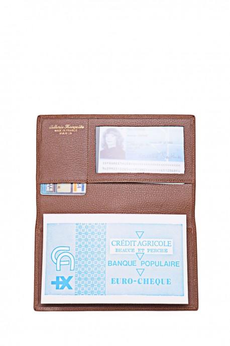 SF 305210 Porte chéquier en cuir La Sellerie Française