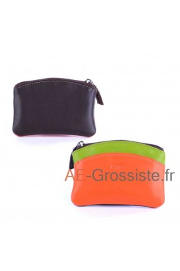 Leather purse Fancil multicolor FA908