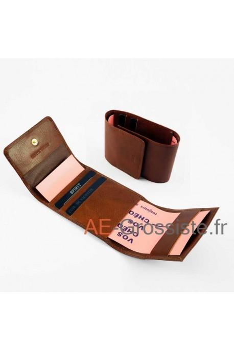 Porte chéquier pliant cuir Spirit R6509
