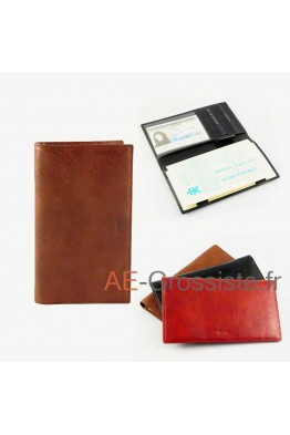 Leather Cheque book case Spirit R6525