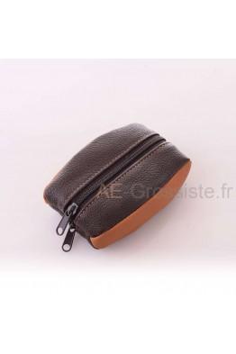 """ZD3754 Porte-monnaie cuir """"grain de café"""""""