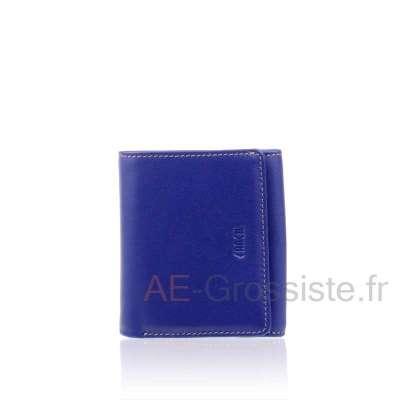 Porte-monnaie cuir Fancil multicolore FA910
