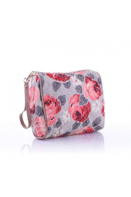 LW6308 Trousse textile Fleur / Beige