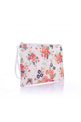LW6310 Flower pattern Make Up bag - cream