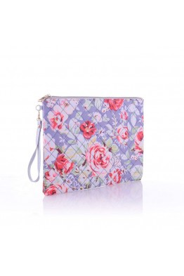 LW6310 Flower pattern Make Up bag - ligth gray