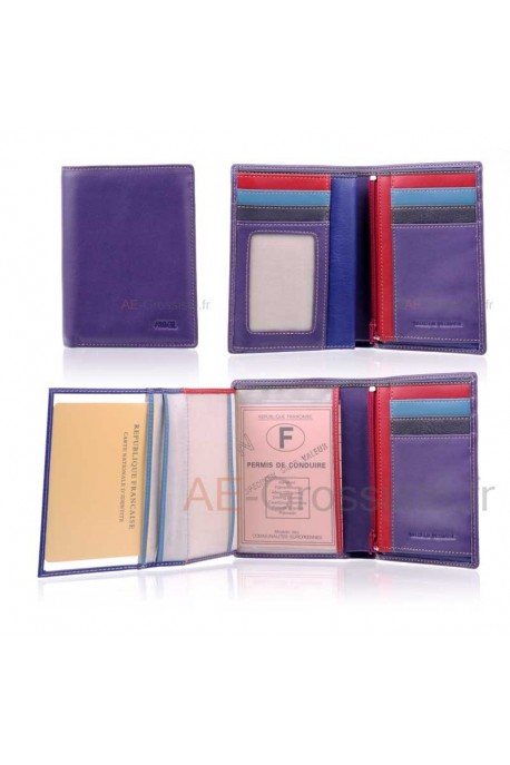 Leather wallet for lady multicolor Fancil FA901