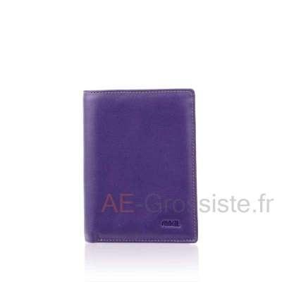 Portefeuille femme multicolore cuir Fancil FA901