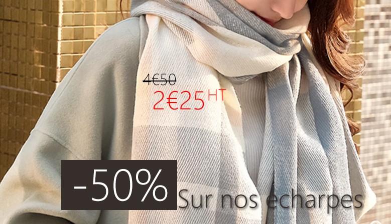-50% écharpe