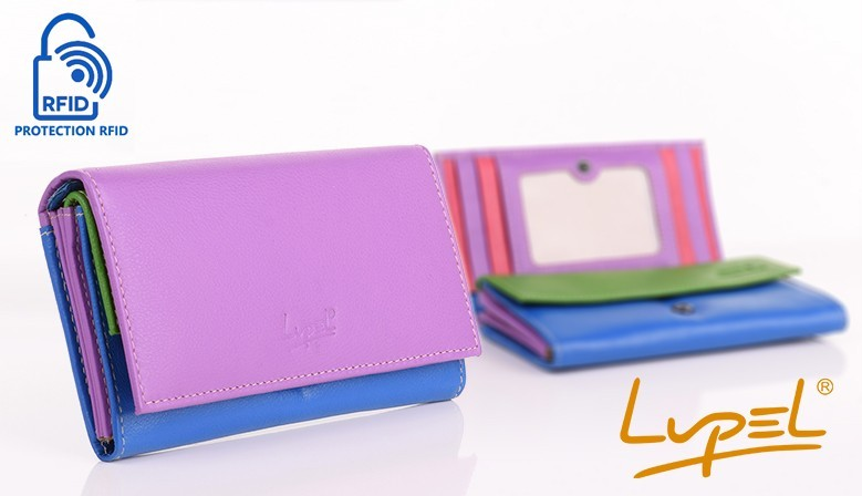 Lupel - New ranges of wallet, genuine leather purses, with contactless card protection.
